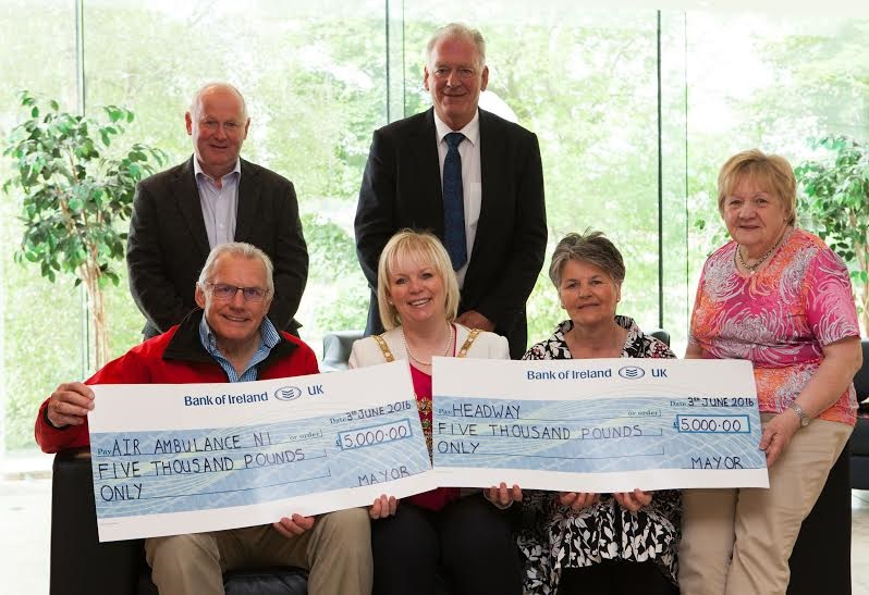 Air Ambulance And Headway recieve funds from Mayors Black Tie Event