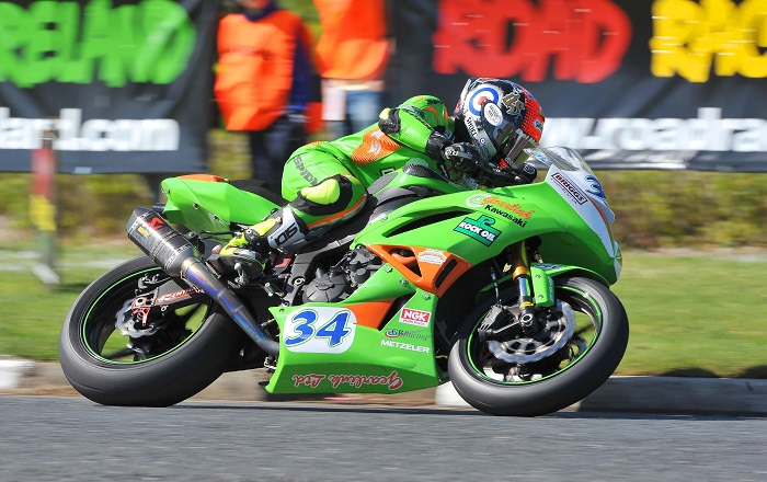 ©pacemakerpressintl.com - 12th May 2016  NW 200 Supersport Race 1  Alastair Seeley (Gearlink Kawasaki  - Kawasaki)   Picture by Mervyn McClelland