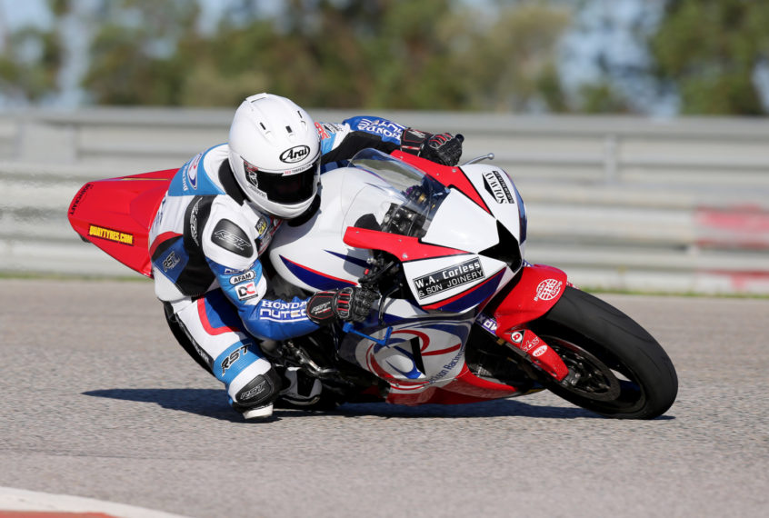 PACEMAKER, BELFAST, 10/3/2017: Lee Johnston on the Jackson Racing Honda CBR600RR at the Honda test in Monteblanco, Spain. PICTURE BY STEPHEN DAVISON