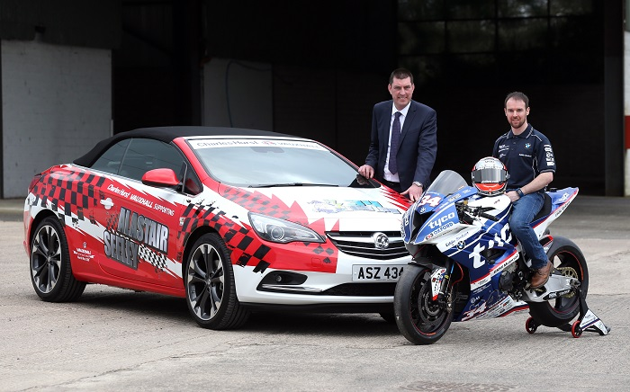 PACEMAKER, BELFAST, 15/3/2017:  Alastair Seeley, the all-time record holder of the Vauxhall International North West 200 with 17 victories, confirmed at the event launch in Coleraine today that he will race a Tyco BMW Superbike at the May 7-13 races. Also included is Keith Hyde of Charles Hurst Vauxhall who will supply the Carrick racer with a new car. PICTURE BY STEPHEN DAVISON