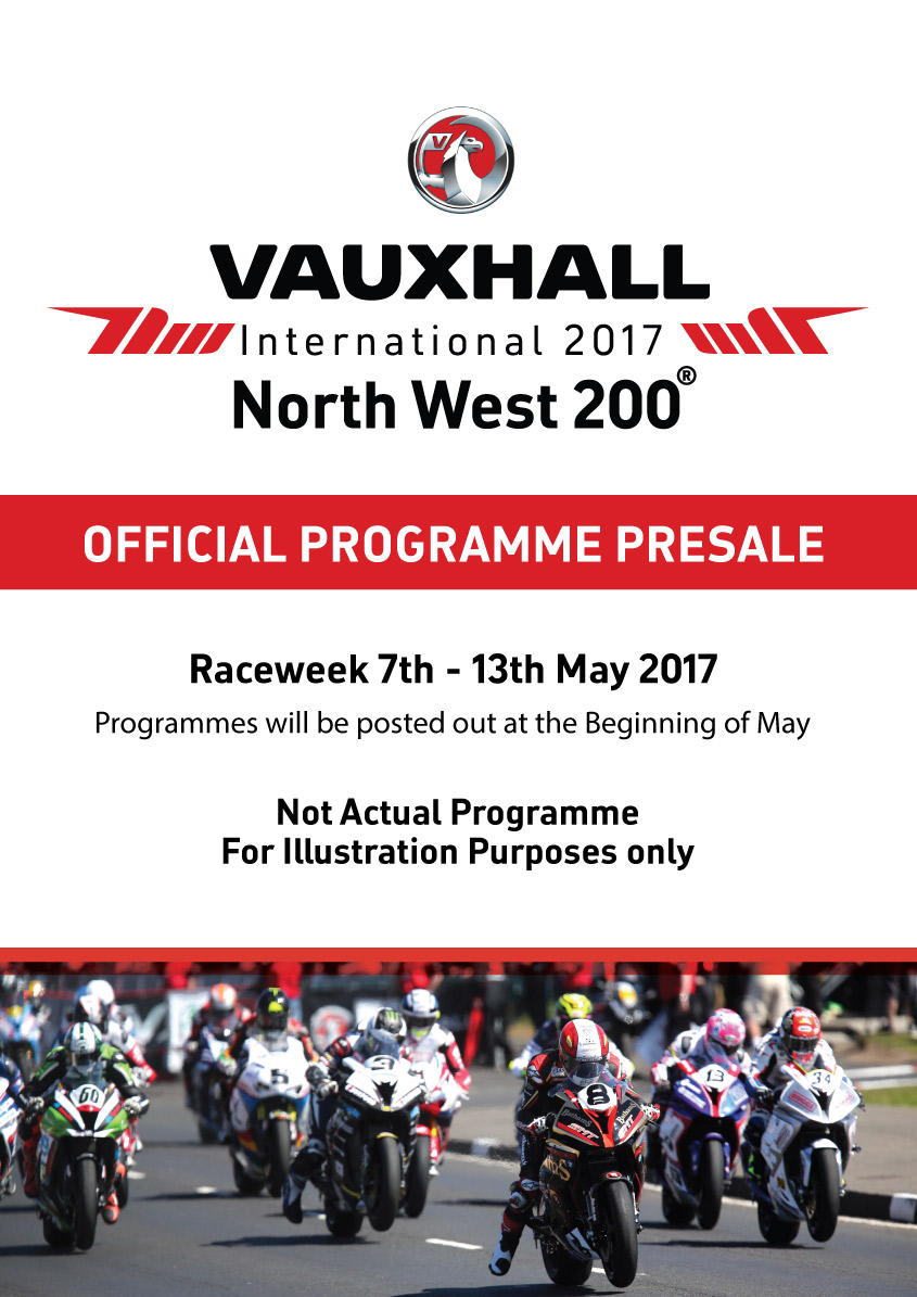 North West 200 Offical programme 2017 presale