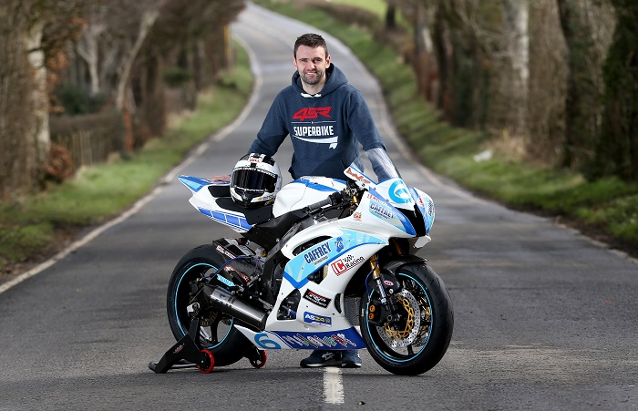 PACEMAKER, BELFAST, 20/3/2017: William Dunlop with his Caffrey International R6 Yamaha he will race in the Supersport class in 2017. PICTURE BY STEPHEN DAVISON