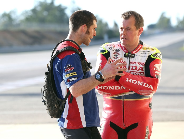 PACEMAKER, BELFAST, 9/3/2017: Honda Racing test at Monteblanco, Spain. Guy Martin with team mate John McGuinness. PICTURE BY STEPHEN DAVISON