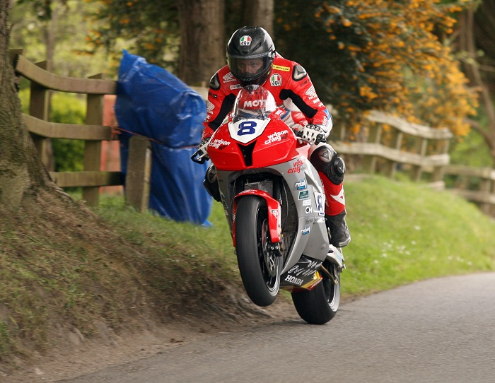 PACEMAKER, BELFAST, 5/5/2017: Guy Martin races the Wilson Craig Honda at the Cookstown 100 last weekend. Martin will race the bike at this week's Vauxhall International North West 200.